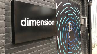 Dimensions studio front door